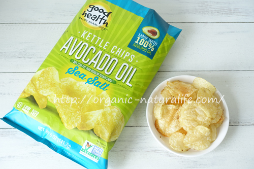 Good Health Natural Foods アボカドオイルポテトチップス塩味を食べてみた!非遺伝子組み換え認証取得&トランス脂肪酸0g!材料はジャガイモ、アボカドオイル、塩の3つでシンプル