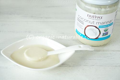 Nutiva オーガニックココナッツマナ ココナッツバター 425gのレビュー!トランス脂肪酸ゼロ!滑らかクリーミー!スムージーやロースイーツを作ってみた!20%オフセールで約920円