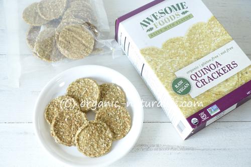 Awesome Foods オーガニックローキヌアクラッカーを食べてみた!発芽キヌアやズッキーニなどで作ったロークラッカー